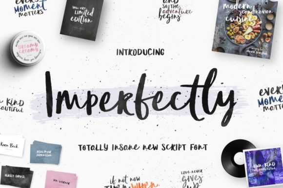 Print on Demand: Imperfectly Script & Handwritten Font By wornoutmedia