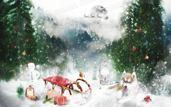 150 Christmas Overlays Photoshop Graphic Layer Styles By 2SUNSoverlays - Image 10