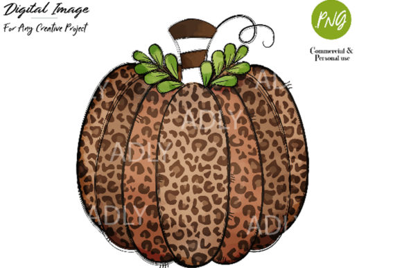 Print on Demand: Leopard Pumpkin Sublimation Transfer Gráfico Ilustraciones Por adlydigital