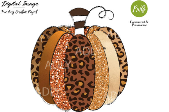 Print on Demand: Leopard Pumpkin Sublimation Transfer Graphic Illustrations By adlydigital - Image 1