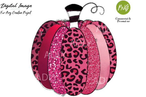 Print on Demand: Pink Pumpkin Sublimation Transfer Graphic Illustrations By adlydigital - Image 1