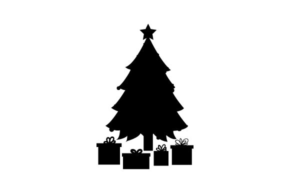 Christmas Tree With Star Topper Ornaments And Gifts Svg Cut