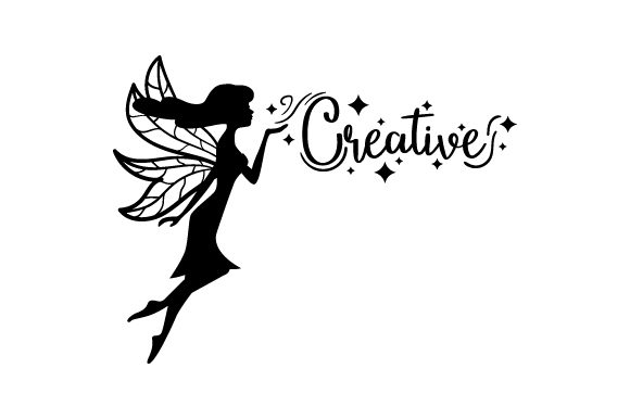 Creative - Fairy Silhouette Craft Design Por Creative Fabrica Crafts