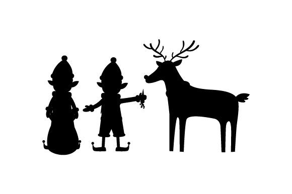 Download Free Elves Feeding Raindeer Svg Cut File By Creative Fabrica Crafts for Cricut Explore, Silhouette and other cutting machines.
