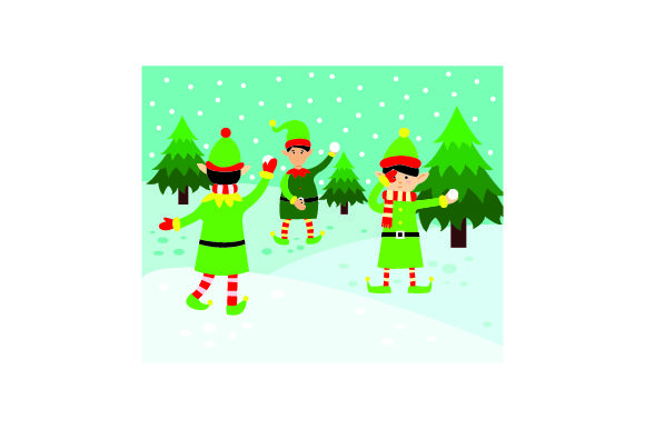 Download Free Elves Having A Snowball Fight Svg Cut File By Creative Fabrica for Cricut Explore, Silhouette and other cutting machines.
