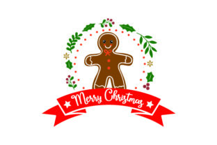 Merry Christmas - Gingerbread Man Craft Design By Creative Fabrica Crafts