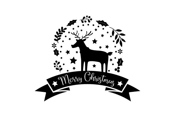 Download Free Merry Christmas Reindeer Svg Cut File By Creative Fabrica for Cricut Explore, Silhouette and other cutting machines.