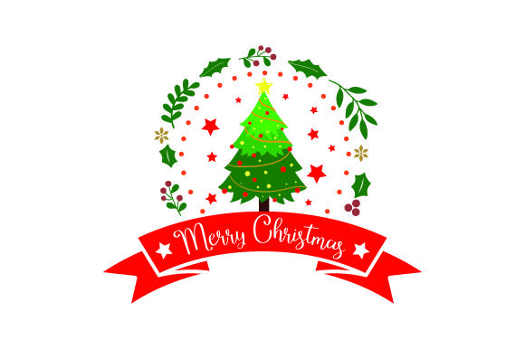 Merry Christmas Xmas Tree Svg Cut File By Creative Fabrica