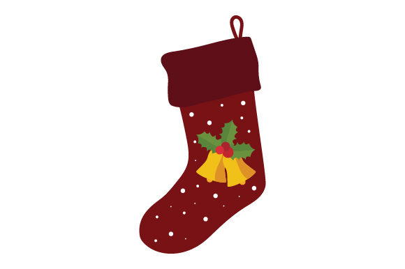Download Free Christmas Stocking With Bells Svg Cut File By Creative Fabrica for Cricut Explore, Silhouette and other cutting machines.
