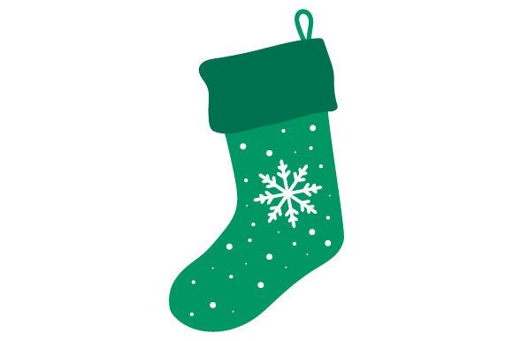 Download Free Christmas Stocking With Snowflake Svg Cut File By Creative for Cricut Explore, Silhouette and other cutting machines.