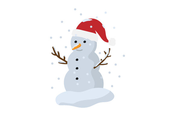 Snowman with Santa Hat Craft Design By Creative Fabrica Crafts
