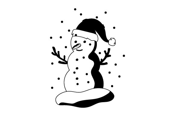 Download Free Snowman With Santa Hat Svg Cut File By Creative Fabrica Crafts for Cricut Explore, Silhouette and other cutting machines.