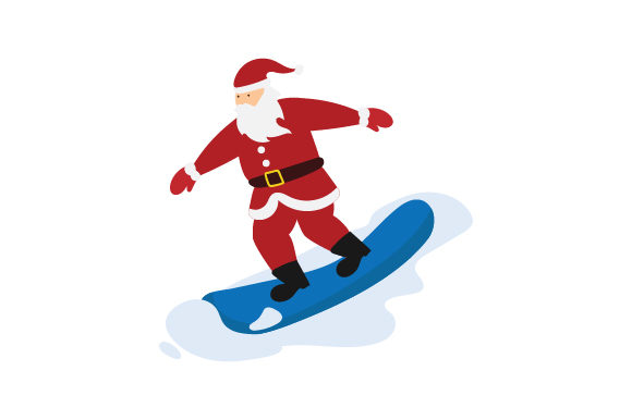 Download Free Santa Snowboarding Svg Cut File By Creative Fabrica Crafts for Cricut Explore, Silhouette and other cutting machines.