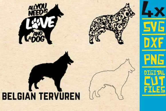 Download Free Belgian Tervuren Graphic By Svgyeahyouknowme Creative Fabrica for Cricut Explore, Silhouette and other cutting machines.