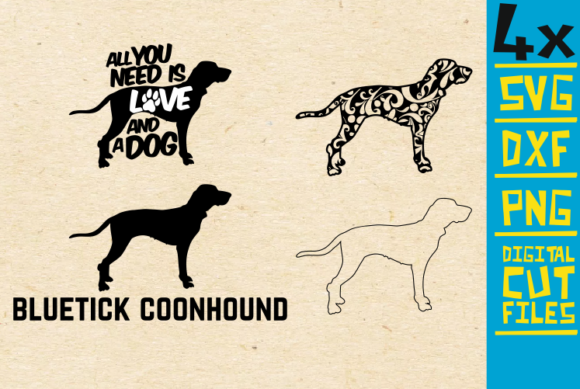 Download Free Bluetick Coonhound Graphic By Svgyeahyouknowme Creative Fabrica for Cricut Explore, Silhouette and other cutting machines.
