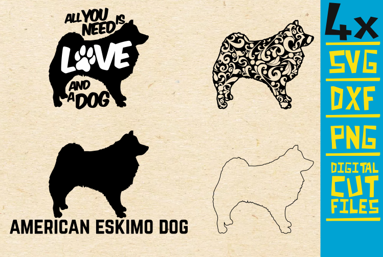 Download Free American Eskimo Dod Graphic By Svgyeahyouknowme Creative Fabrica for Cricut Explore, Silhouette and other cutting machines.