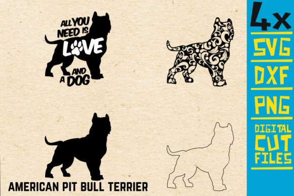 Download Free American Pit Bull Terrier Mandala Graphic By Svgyeahyouknowme for Cricut Explore, Silhouette and other cutting machines.