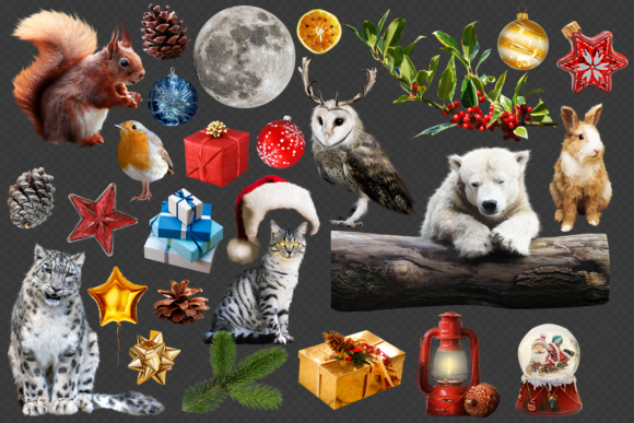 150 Christmas Overlays Photoshop Graphic Layer Styles By 2SUNSoverlays - Image 2