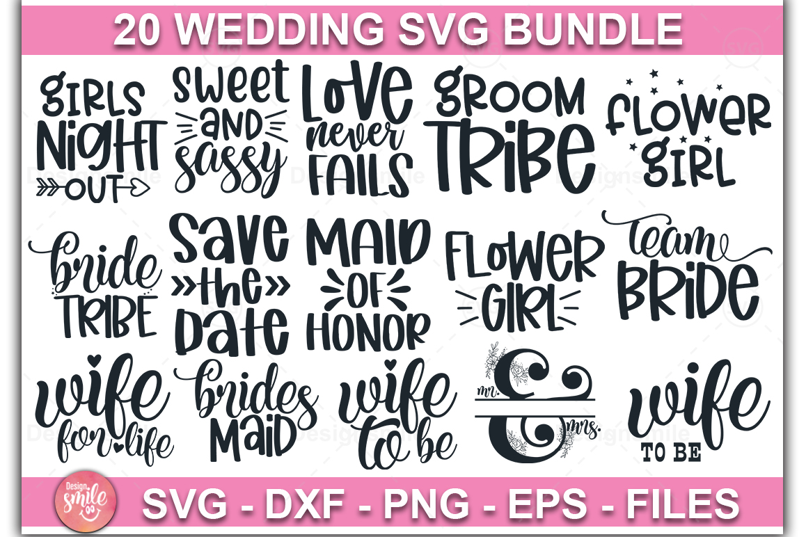 Download Free Wedding Bundle Graphic By Designdealy Com Creative Fabrica for Cricut Explore, Silhouette and other cutting machines.