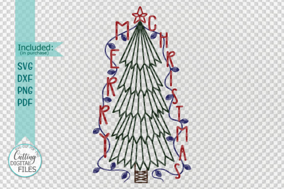 Download Free Primitive Merry Christmas Tree Graphic By Cornelia Creative SVG Cut Files