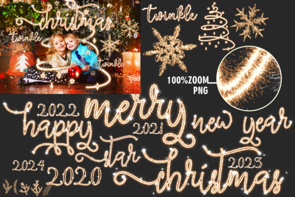 150 Christmas Overlays Photoshop Graphic Layer Styles By 2SUNSoverlays - Image 5