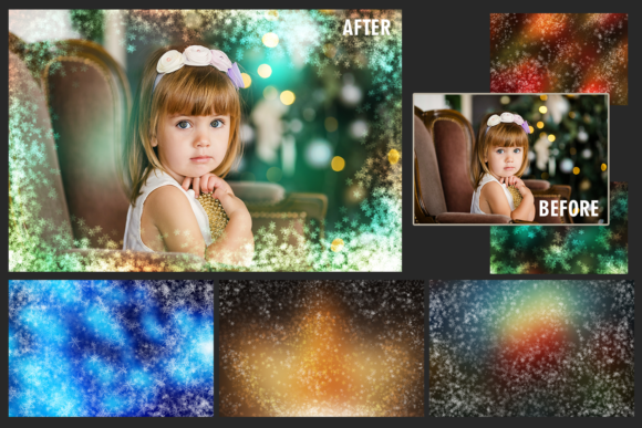 150 Christmas Overlays Photoshop Graphic Layer Styles By 2SUNSoverlays - Image 8