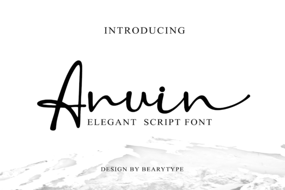 Print on Demand: Anuin Script & Handwritten Font By LetterBeary