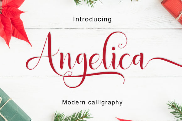 Print on Demand: Angelica Script & Handwritten Font By Amarlettering - Image 2