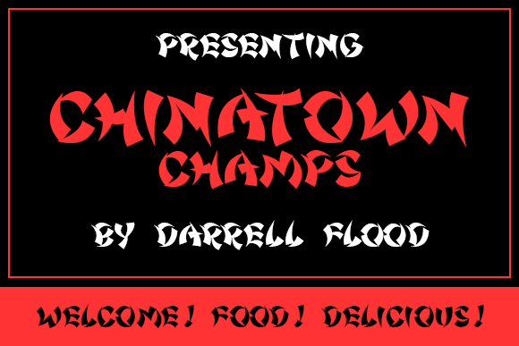 Print on Demand: Chinatown Champs Display Font By Dadiomouse