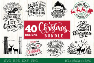 Christmas Bundle SVG 40 Designs Vol 3 Graphic By sssilent_rage