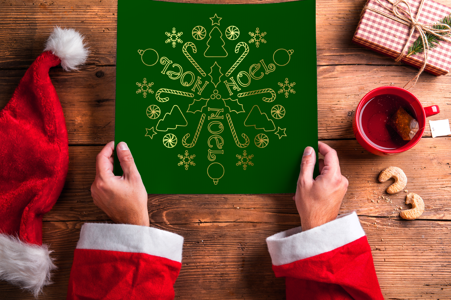 Download Free Christmas Mandala Art Single Line Graphic By Risarocksit for Cricut Explore, Silhouette and other cutting machines.