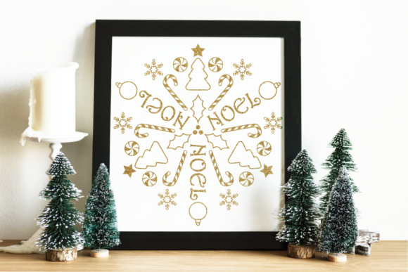 Circular Christmas Mandala Art Graphic By RisaRocksIt