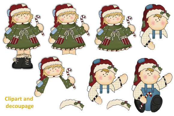Print on Demand: Christmas Clipart and Backgrounds Bundle Graphic Illustrations By The Paper Princess - Image 5