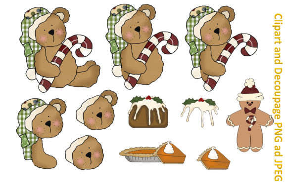 Print on Demand: Christmas Clipart and Backgrounds Bundle Graphic Illustrations By The Paper Princess - Image 6