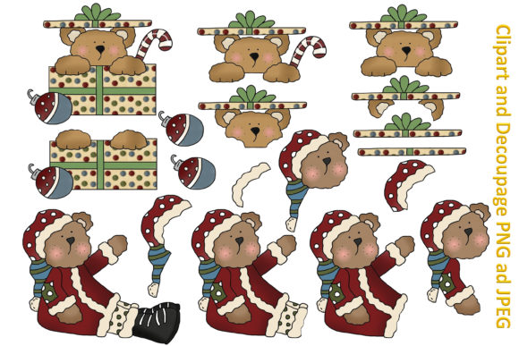 Print on Demand: Christmas Clipart and Backgrounds Bundle Graphic Illustrations By The Paper Princess - Image 3