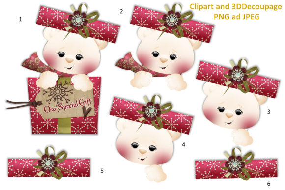 Print on Demand: Christmas Clipart and Backgrounds Bundle Graphic Illustrations By The Paper Princess - Image 4