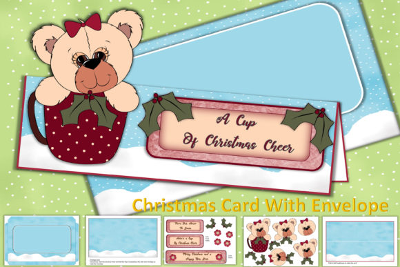 Print on Demand: Christmas Card Making Kit with Envelope Gráfico Crafts Por The Paper Princess