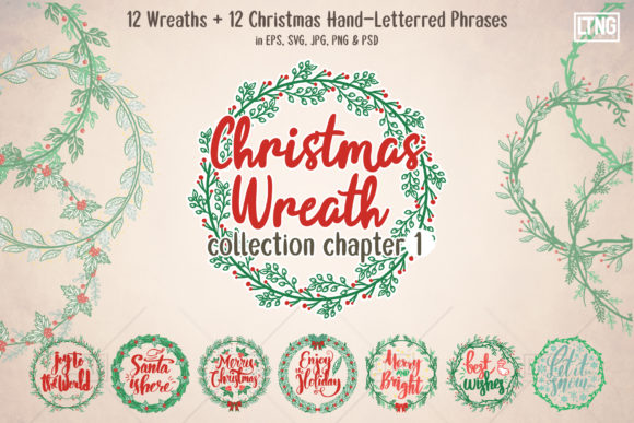 Download Free Christmas Wreaths Phrases Ch 1 Graphic By Luluimanda82 for Cricut Explore, Silhouette and other cutting machines.