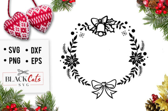 Download Free Christmas Frame Graphic By Blackcatsmedia Creative Fabrica for Cricut Explore, Silhouette and other cutting machines.