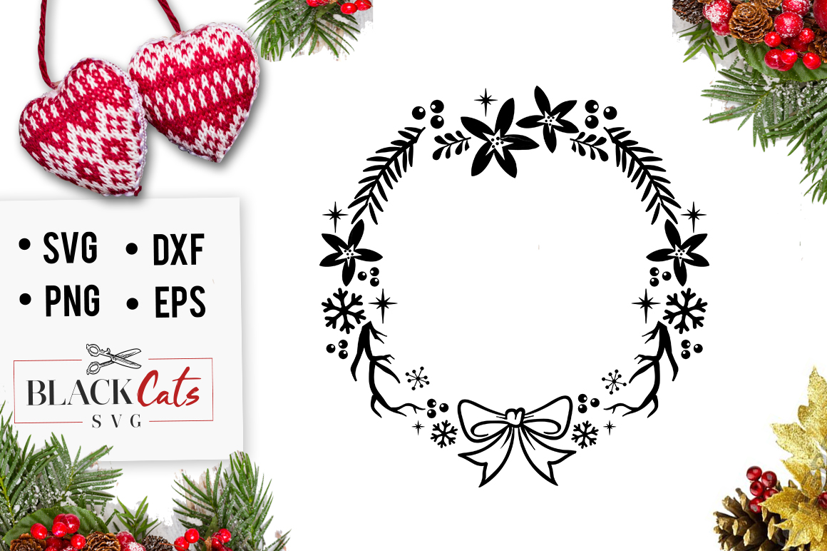 Download Free Christmas Frame Svg Graphic By Blackcatsmedia Creative Fabrica for Cricut Explore, Silhouette and other cutting machines.