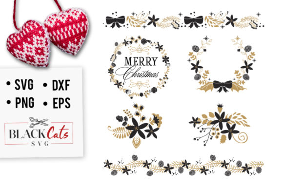 Christmas Frames SVG Graphic Crafts By BlackCatsMedia
