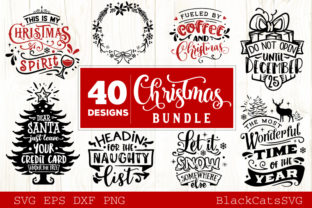 Christmas Bundle SVG 40 Designs Vol 4 Gráfico Por sssilent_rage