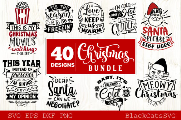 Christmas Bundle 40 Designs Vol 4 Graphic By Blackcatsmedia