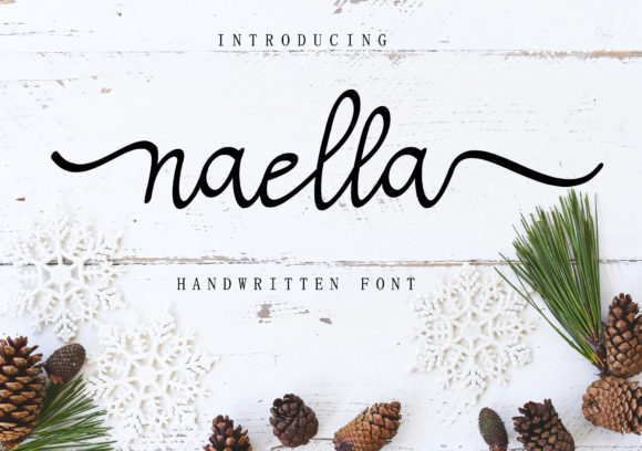 Print on Demand: Naella Script & Handwritten Font By AEN Creative Studio