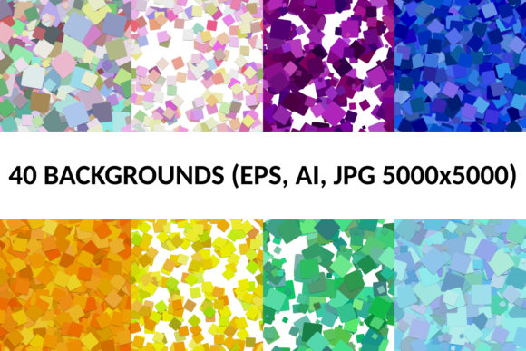 40 Seamless Square Backgrounds Graphic Patterns By davidzydd