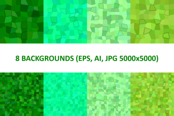 8 Green 3D Rectangle Backgrounds Graphic Backgrounds By davidzydd