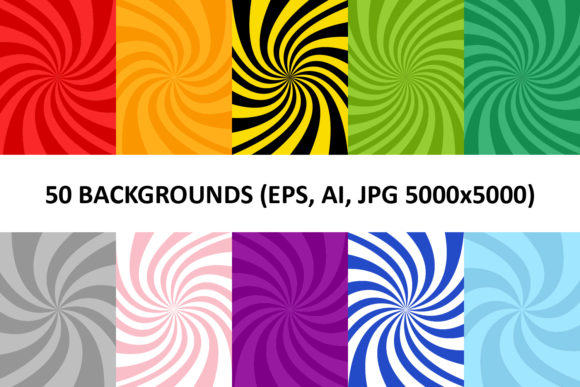 50 Spiral Backgrounds Graphic Backgrounds By davidzydd