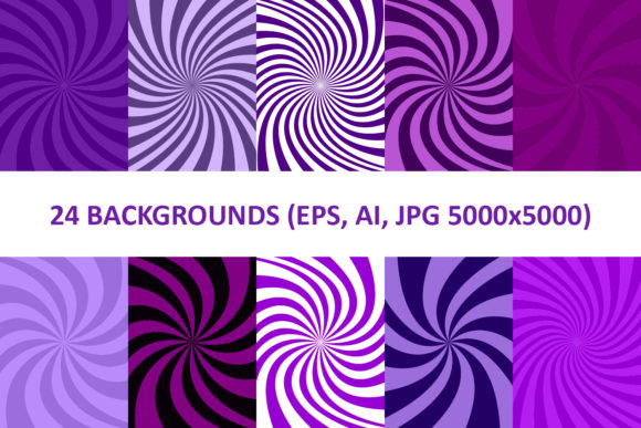24 Purple Spiral Backgrounds Graphic Backgrounds By davidzydd