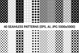 Download Free 40 Seamless Circle Patterns Graphic By Davidzydd Creative Fabrica for Cricut Explore, Silhouette and other cutting machines.