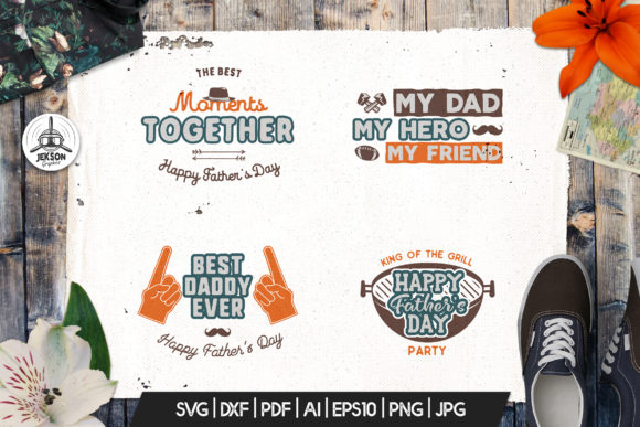 Download Free Fathers Day Print Templates Bundle Graphic By Jeksongraphics for Cricut Explore, Silhouette and other cutting machines.
